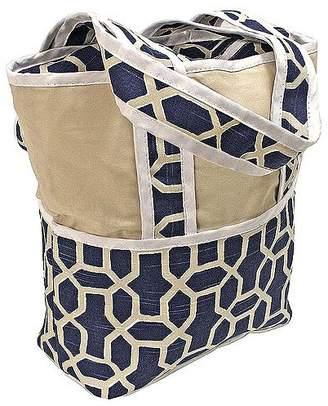 Hoohobbers Tote Diaper Bag, Pebbles Navy
