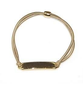 Co Hepburn & 2 Line Gold Bar Ponytail