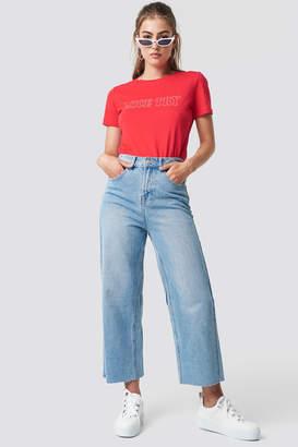 Glamorous Wide Jeans Light Blue