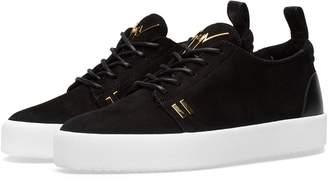 Giuseppe Zanotti Gold Tab Detail Low Sneaker
