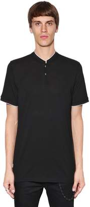 The Kooples Mandarin Collar Jersey Polo Shirt
