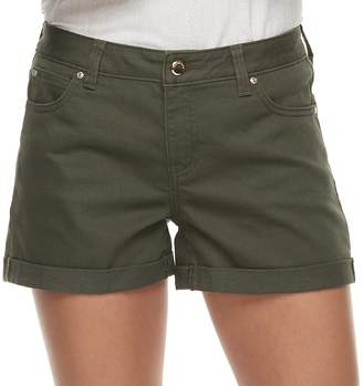 JLO by Jennifer Lopez Women's MidRise Cuffed Twill Shorts