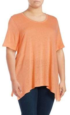 Lord & Taylor Plus Flyaway Short-Sleeve Top