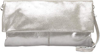Mint Velvet Lily Leather Clutch, Silver