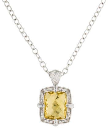 CharriolCharriol Lemon Quartz & Diamond Pendant Necklace