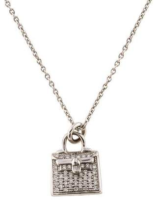 Hermes 18K Diamond Kelly Amulette Pendant