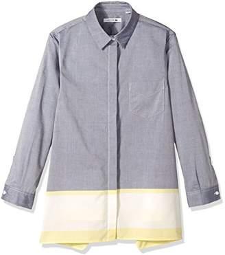 Lacoste Women's Long Sleeve Color Block Asymmetrical Hem Shirt