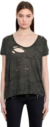 Unravel Basic Destroyed Cotton Jersey T-Shirt