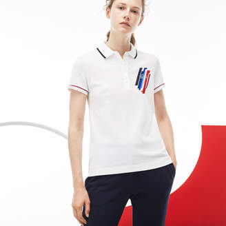Lacoste Women's Tricolor Collection Stretch Mini Piqué Polo