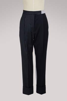 Thom Browne Mixed stripe wool pants