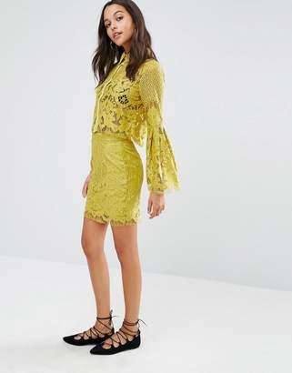 boohoo Lace Skirt