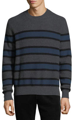 Vince Men's Crewneck Striped Cashmere Sweater