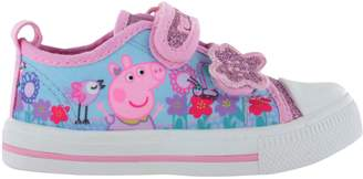 Peppa Pig Girls Glitter Sports Trainers Shoes Hook & Loop UK Infant Size 9