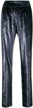 Philosophy di Lorenzo Serafini velvet lounge trousers