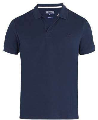 Vilebrequin Palatin Cotton Pique Polo Shirt - Mens - Navy