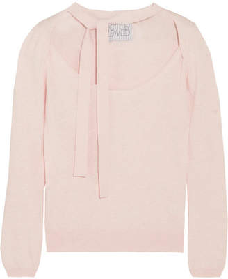 Victor Glemaud - Cutout Cotton And Cashmere-blend Sweater - Blush