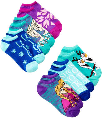 Disney's Frozen 6-Pack No-Show Ankle Socks, Little Girls & Big Girls