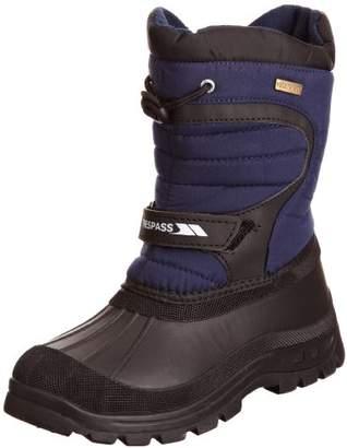 Trespass Kukun, Navy Blue, 31, Waterproof Winter Boots Kids Unisex, UK Size 12, Blue