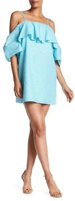Amanda Uprichard Marise Cold Shoulder Gingham Print Dress