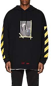 Off-White Men's Annunciation Cotton Terry Hoodie-Black