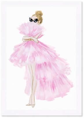 Oliver Gal Pink Tutu Dress Framed Art By The Artist Co.