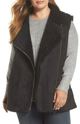 Love Token Faux Shearling Vest