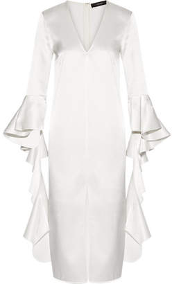 Ellery Ruffled Satin-crepe Dress - Ivory