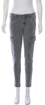 J Brand Mid-Rise Skinny Cargo Pants Blue Mid-Rise Skinny Cargo Pants