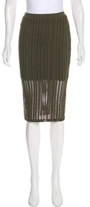 Alexander Wang Perforated Knee-Length Skirt w/ Tags