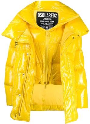 DSQUARED2 oversized layered puffer jacket