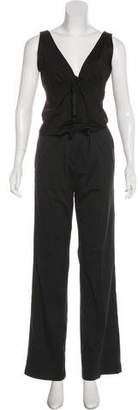 Prada Sleeveless Wide-Leg Pant Set