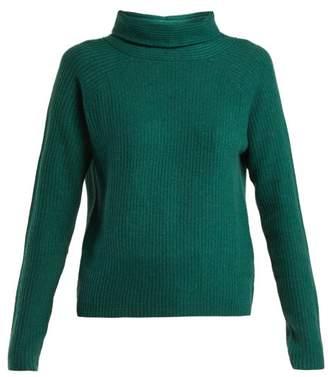 Allude Roll Neck Cashmere Sweater - Womens - Dark Green