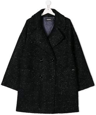 Diesel metallic flecked patterned coat