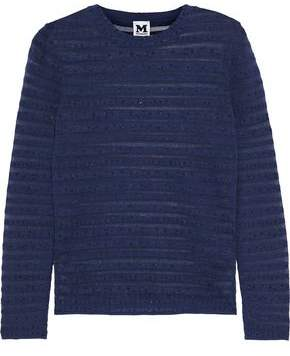 M Missoni Metallic Striped Knitted Sweater