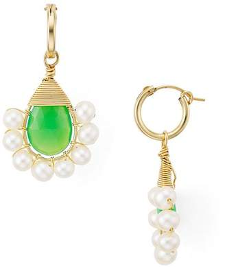 Beck Jewels Green Lolita Cultured Freshwater Pearl Drop Earrings
