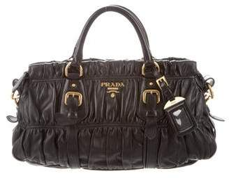 034544f9bf Pre-Owned at TheRealReal · Prada Nappa Gaufre Satchel