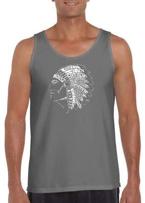 Pop Culture Big Men's tank top - popular native american indian tribes