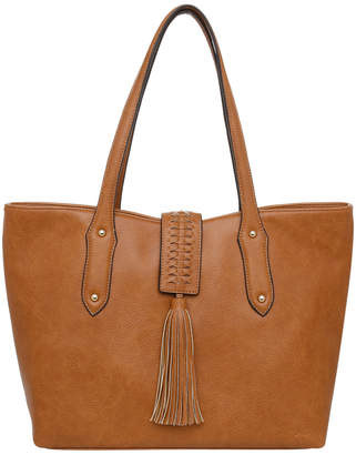 Jag Weave & Tassel Double Handle Tote Bag JH-0026