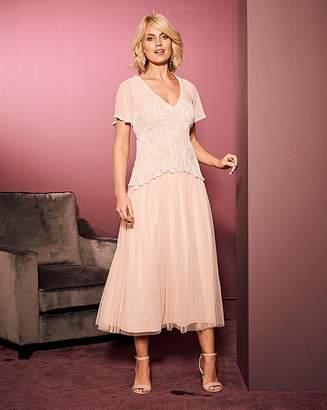 Nica Nightingales Beaded Overlay Dress