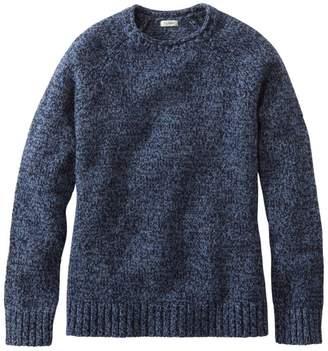 L.L. Bean L.L.Bean Classic Ragg Wool Sweater, Crewneck Raglan Sleeve