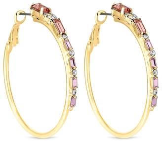 Lipsy Blush Pink Crystal Hoop Earrings