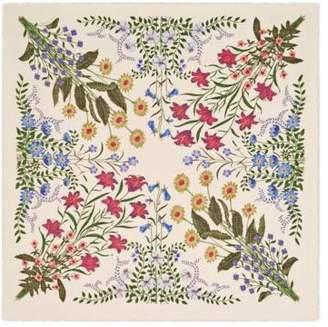 Gucci New Flora print wool silk shawl