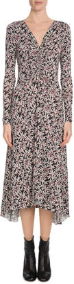 Etoile Isabel Marant Tova Printed Long-Sleeve Midi Dress