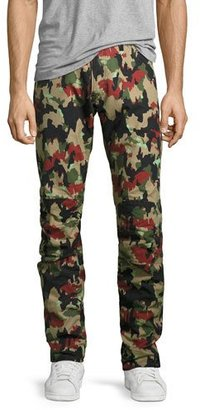G-Star Elwood X25 Alpenflage Camouflage 3D Tapered Jeans, Black/White/Red $170 thestylecure.com
