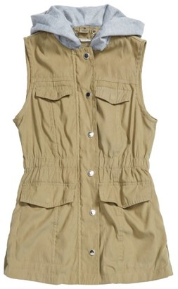 Girl's Jou Jou Hooded Vest $48 thestylecure.com