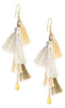 Chan Luu Smokey Quartz& Multi-Tassel Drop Earrings