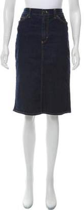 Dolce & Gabbana Knee-Length Denim Skirt