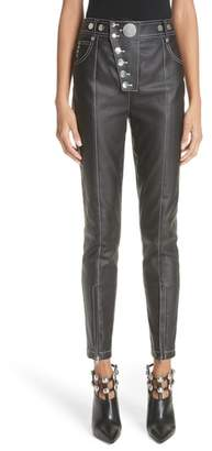 Alexander Wang Skinny Lacquered Twill Pants