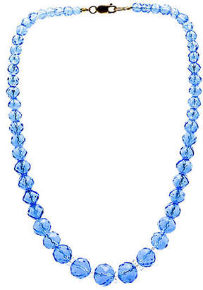 One Kings Lane Vintage Graduated Deep Blue Crystal Necklace