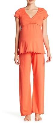 Majamas Genna Maternity/Nursing 2-Piece Pajama Set (Maternity)